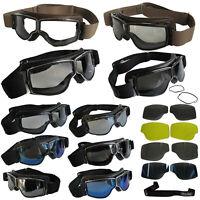 AVIATOR Brille T2 Motorradbrille für Brillenträger bzw. Rahmen Gläser Ersatzband