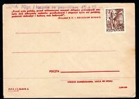 Poland old unused letter with handstamp applied