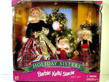 NIB BARBIE DOLL 1998 HOLIDAY SISTERS STACIE KELLY CHRISTMAS GIFT SET