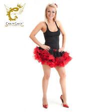 Dance Wear Ladies Crazy Chick 2Layer Short Ruffle Vampire TuTu Skirt Fancy Dress
