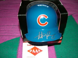 Anthony Rizzo signed mini batting helmet w COA