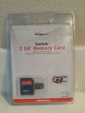Verizon SanDisk 2GB Memory Card Full-Size Micro SD Adapter 2-in-1 Universal