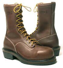 """Wesco Voltfoe 10"""" Brown Lineman Boots EHBR57101270"""