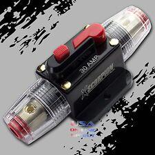 Marine Grade Gold Inline 12 Volt 30 Amp Power Circuit Breaker manual reset Audio
