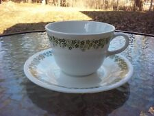 Corelle Crazy Daisy Spring Blossom Cup & Saucer Set Vtg 1970s Libbey Pyrex