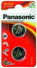 Panasonic CR2032 Battery Lithium Coin Cell, 3V Batteries (2 Pack) 2032 CR - NEW