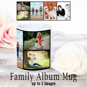Personalised Mug Photo Mug Custom Design Image Family Album Mug up to 5 images