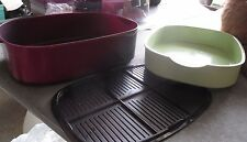 tupperware 5 piece stack cooker-oval-microwave a whole chicken in this-steam veg