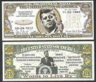 JFK John F. Kennedy Memorial Million Dollar Note - Lot of 2 Bills