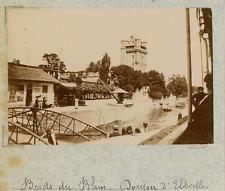 Allemagne, le donjon d'Eltville, bords du Rhin  vintage albumen print,Pho