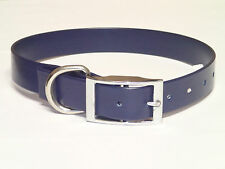 "HUNTING Dog Collar 21x1"" Dee ring - Hunting, Hound, Fox dog, Pet - NAVY"
