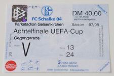 Ticket for collectors EC Schalke Gelsenkirchen SC Braga 1997 Germany Portugal