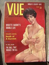 Vue America's Photo Digest March 1961 Vtg Men's Magazine Pin Up Brigitte Bardot