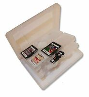 24 x TRANSPARENT GAME CARD CASE HOLDER for NINTENDO 3DS DS DSI and SD CARTS UK