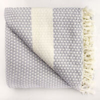 Summer Weight LARGE QUEEN SIZE THROW Luxuriously Soft 100% TURKISH COTTON