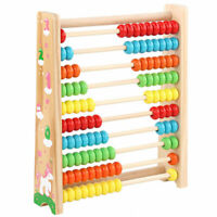 Children Wooden Bead Abacus Kids Counting Frame Educational Maths Toy 20cm UK