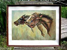 Künstlerische Aquarell-Malereien mit Pferde-Motiv