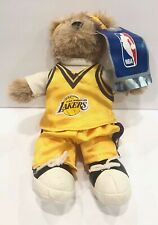 NBA Los Angeles Lakes Bear Plush Basketball LA American Express Giveaway 9.5""