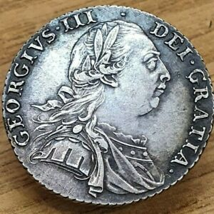 1787 George III Silver Shilling