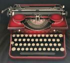 Vintage+1930%27s+%22RED%22+Royal+Model+P+Manual+Typewriter+W%2FCase+And+New+Ribbon