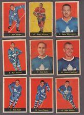 1960-61 Parkhurst Original Hockey Cards Lot of 25