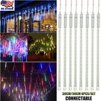50CM Waterproof Xmas Meteor Shower Falling Rain Drop Icicle Fall LED Strip Light