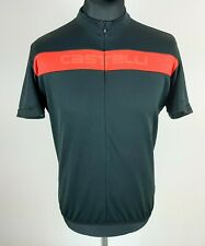 Castelli Cycling Jersey Mens Size 2XL Black 3/4 Zip Short Sleeve Made in Hungary