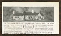 1936 National Garden Homes 5th Ave Print Ad For the Bride This Cozy Home