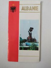 Vintage Albania Travel Brochure Guide with Map 1984