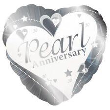 Palloncini rotonda in argento anniversario per feste e party
