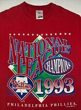 Vintage Mens L 1993 90s Philadelphia Phillies League Champs Mlb Baseball T-Shirt