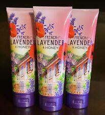 3 Bath&Body Works Lavanda Francesa & Miel Triple Crema Hidratante Loción Lote