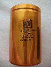 2x NEW ROE GOLD 385v 1500uf LONG LIFE AUDIO GRADE HI-END CAPACITORS !!!