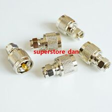 1X F Male to UHF male PL-259 PL259 plug straight RF Connector Converter Adapter