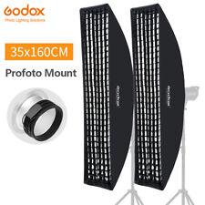 2PCS Godox 35x160cm Strip Honeycomb Grid Softbox For Profoto Mount Studio Flash