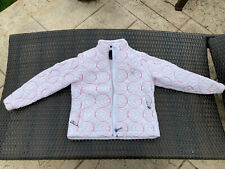 Girl's Small Spider white and red Rain Jacket insulated