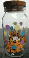 Vintage Anchor Hocking Garfield the Cat Glass Jar Canister with Lid Juggling