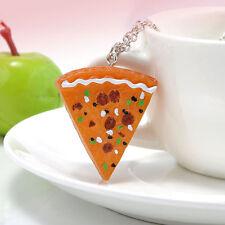 Carine Kitsch Kawaii Pizza Slice Collana-Nuovo di Zecca