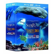 DOLPHINS & WHALES / SHARKS / OCEAN WONDERLAND 3D Blu-ray Brand New Sealed