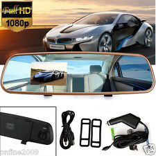 3.2'' HD 1080P Car Rearview Mirror Camera Recorder DVR Dash Cam Video G-sensor q