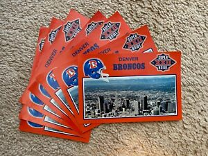 DENVER BRONCOS SUPER BOWL XXll POSTCARDS 7 UNUSED CARDS ALL THE SAME
