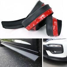 "Lip Protector Front Bumper Spoiler Side Rubber Splitter Universal 100"" Car Black"