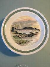 PORTMEIRION COMPLEAT ANGLER GREAT LAKE TROUT DINNER PLATE