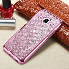 Glitter Bling Diamond TPU Soft Gel Phone Case Cover For Samsung Galaxy S6 S7 #X