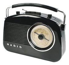 RADIO DESIGN RETRO AM FM PORTABLE NOIRE GRAND ECRAN ROTATIF GRADUE