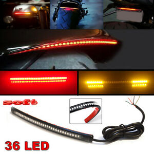 Multifunctions LED Motorcycle Strip Light Brake Tail Turn Signal License Pl Y.mc