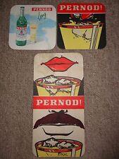 Beer mats drip mats coaster PERNOD collection rare