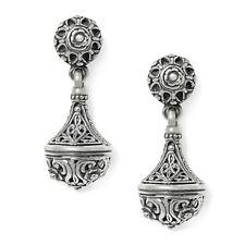 Konstantino Women's Carved Sterling Silver Incense Burner Drop Earrings