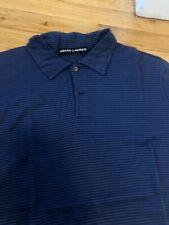 Ralph Lauren Black Label Blue Striped Stretch Polo. Sz. L $165
