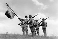 Chinese banner group with regimental banner on top of the hi WW2 photo 4x6 #1514